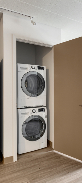the washer and dryer