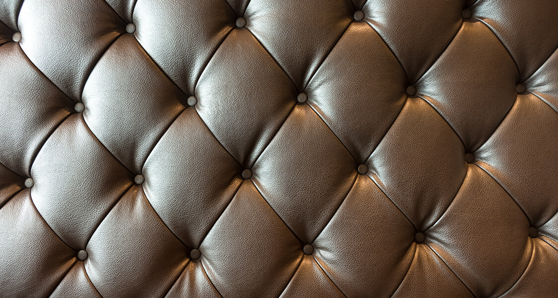 the back of a leather couch