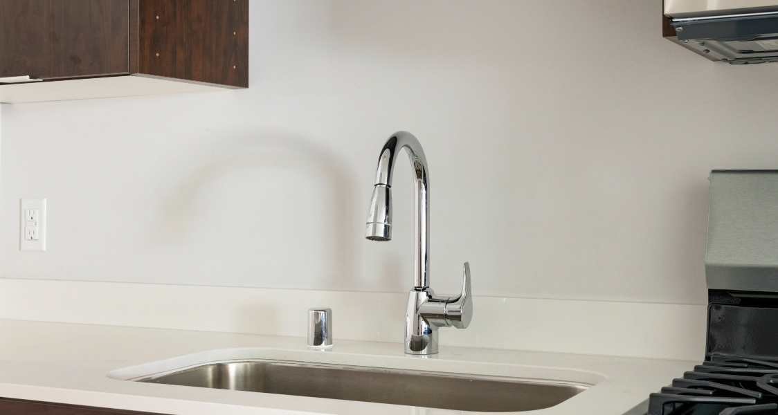 the kitchen faucet